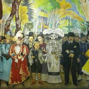 Dream of Sunday afternoon in the Central Alameda. Diego Rivera