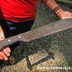 The Ugandan panga, a machete with multiple uses